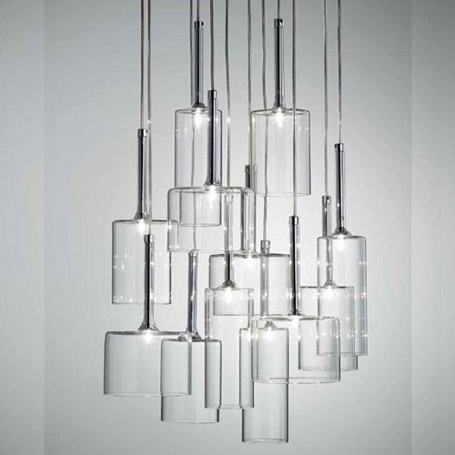 The Spillray 12 Light Chandelier Features A Collection Of Glass Lights In Various Shapes And Colors Crystal Hanglamp Moderne Kroonluchter Moderne Verlichting