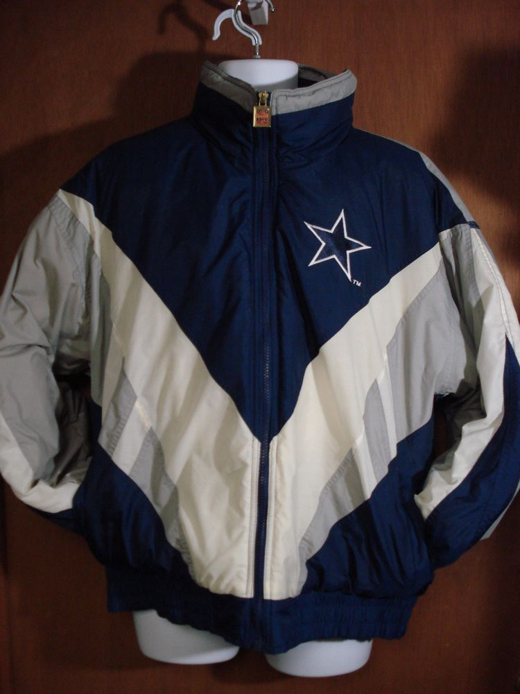 wholesale dealer f33c3 f6d26 Vintage Dallas Cowboys Men's Puffy Jacket Extra-Large Game ...