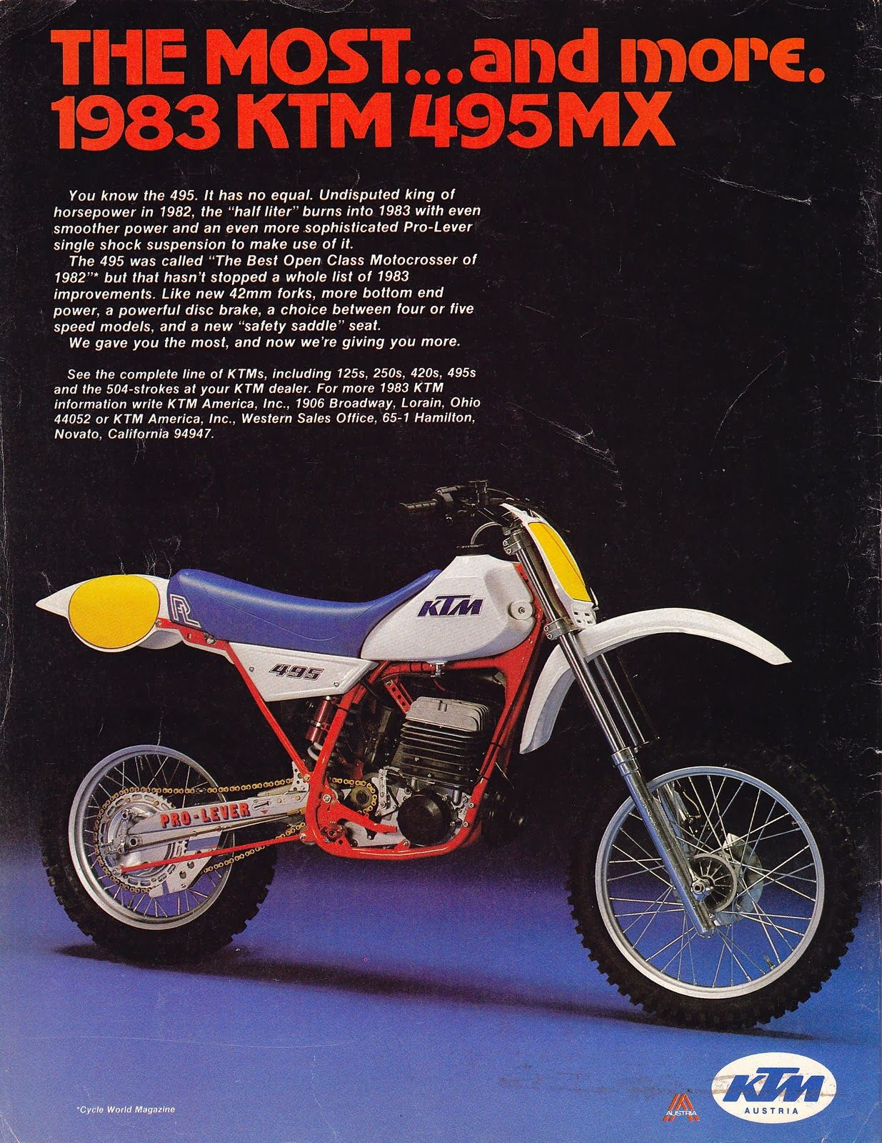 Ktm Mx 495 1983 Usa Jpg 1235 1600 Ktm Vintage Motocross Old School Motorcycles