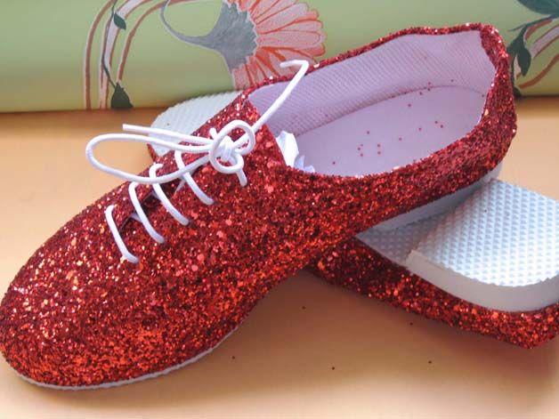 Red Glitter Jazz Shoes!!! ❤❤❤:)   Dance   Pinterest   D ...