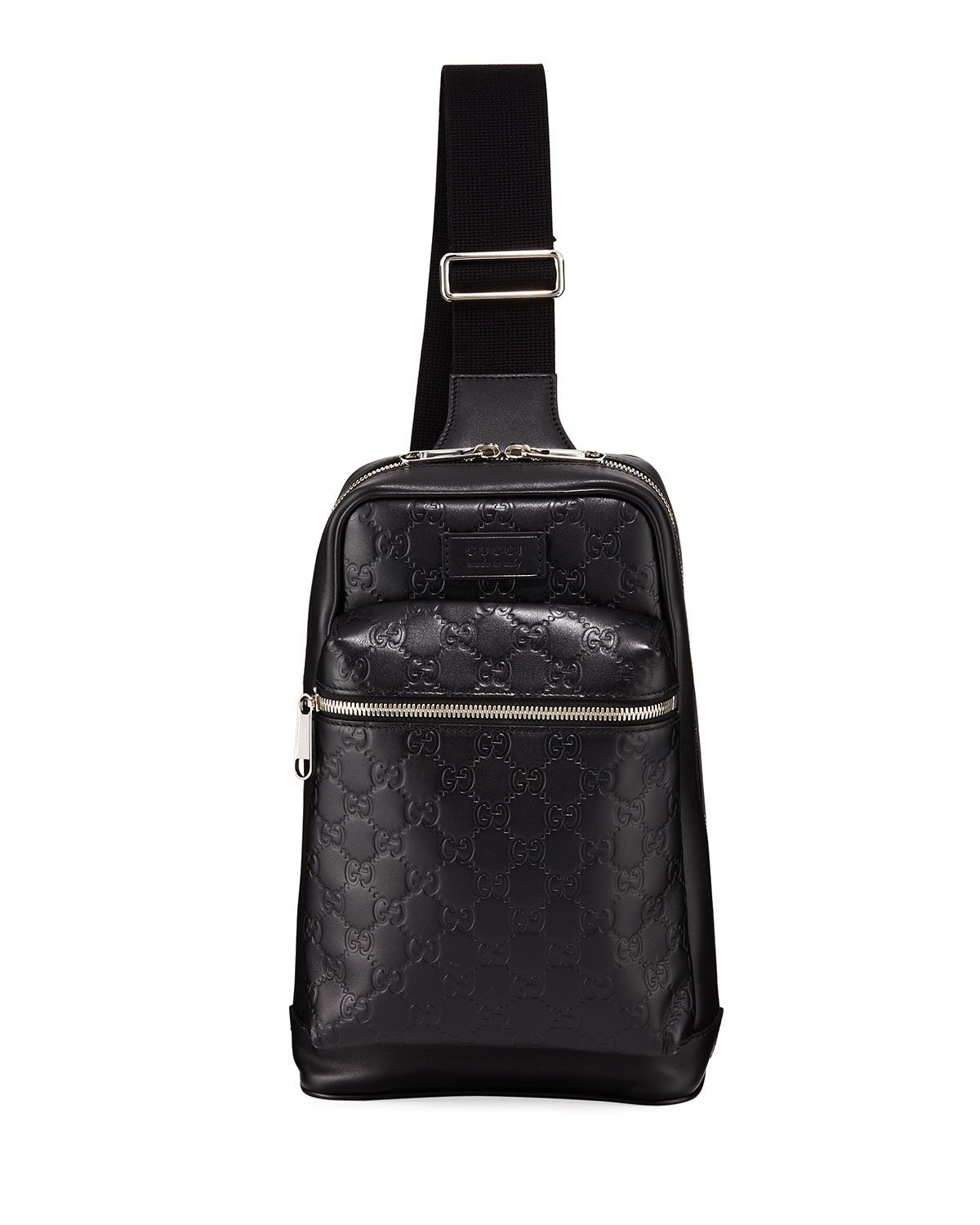 2802c1b526b7 GUCCI MEN S GG LEATHER CROSSBODY BACKPACK.  gucci  bags  leather  rayon   backpacks
