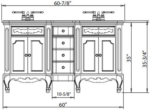What Is The Standard Height Of A Bathroom Vanity Contemporary