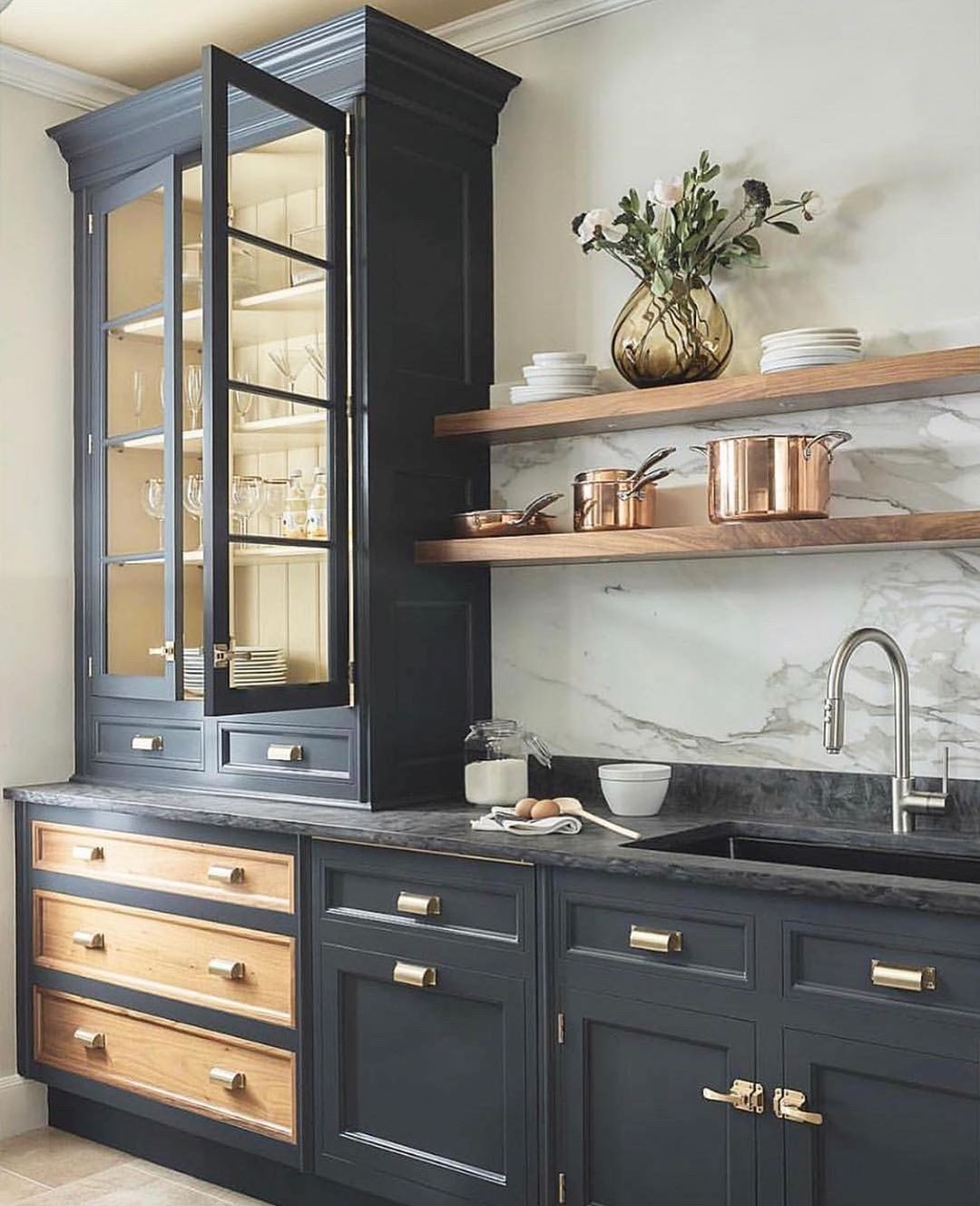 Style Me Pretty Living On Instagram Filed Under How To Make Your Kitchen Look Like A Chic Parisian S Kitchen Design Trends Home Decor Kitchen Modern Kitchen