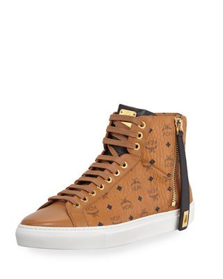 beb7594e7f5 MCM Men's Visetos High-Top Sneakers | Products | Sneakers, High top ...