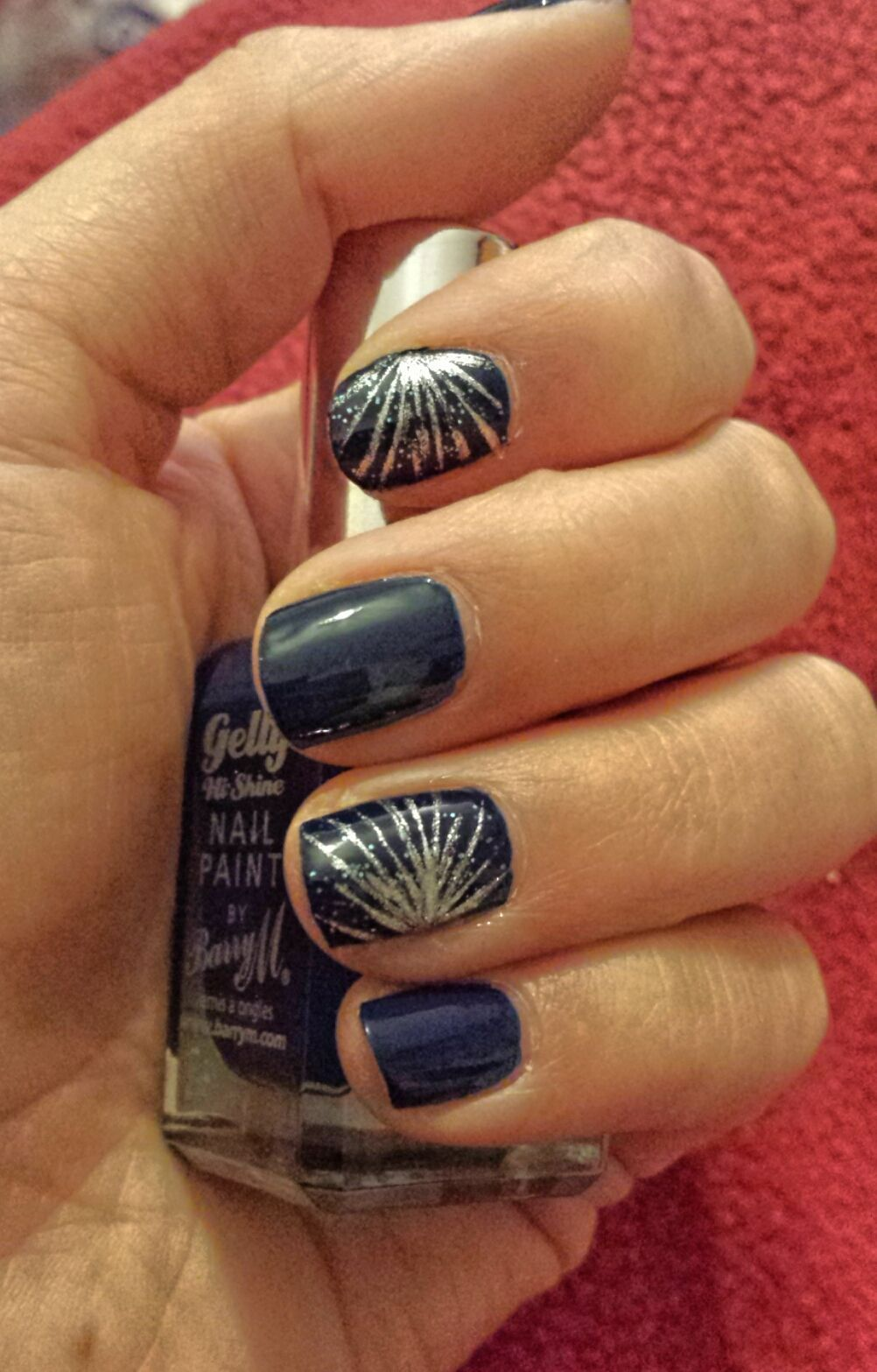 Nail design for new years eve nails nailart nye design