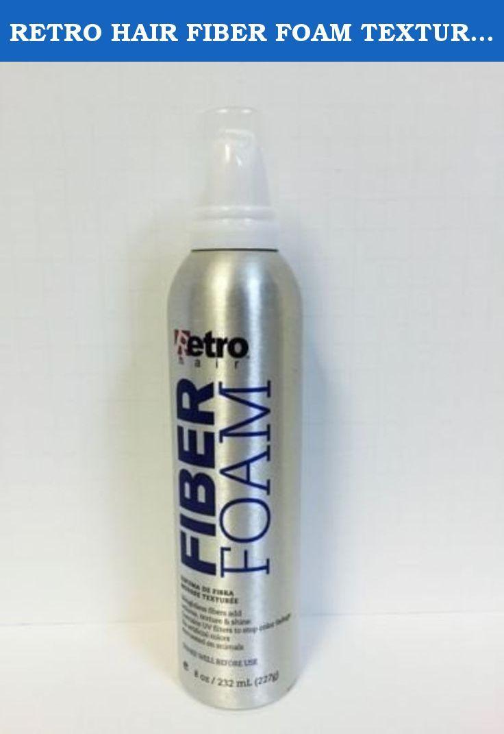 Retro Hair Fiber Foam Texture Mousse Volume Texture Shine 8oz