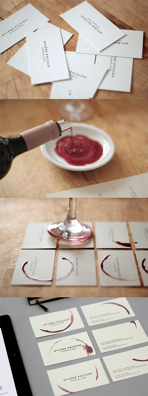 A compilation of creative diy business cards you should see wine diy business card reheart Choice Image