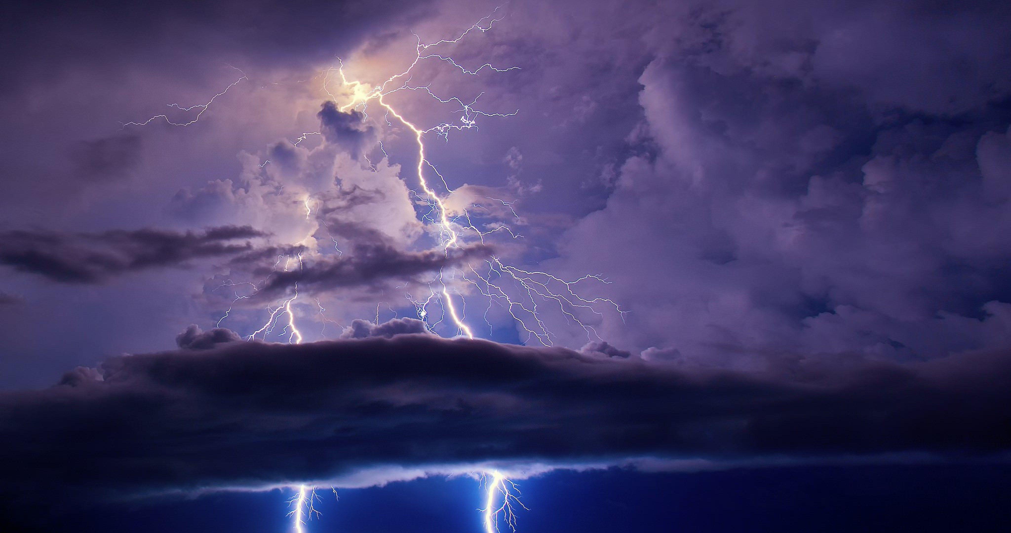 lightning sky 4k ultra hd wallpaper Lightning sky