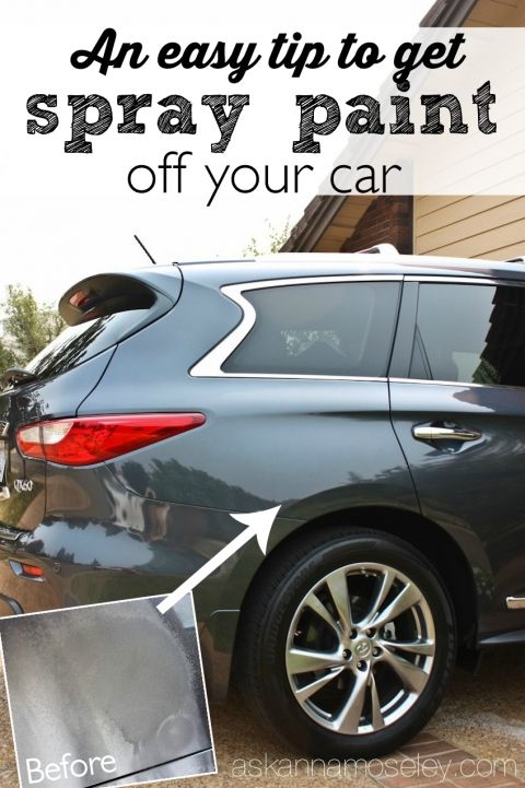 Remove Spray Paint From Car >> An Easy Tip To Get Spray Paint Off A Car Cleaning Organization