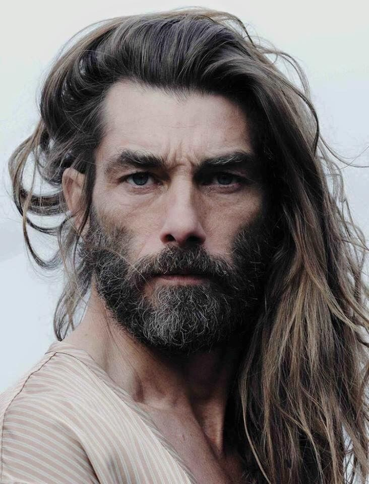 Delicious Men With Long Hair And A Beard Long Hair Styles Men Men S Long Hairstyles Beard Model