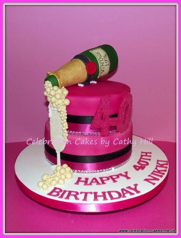Images Of Birthday Cake And Champagne : #celebration #Champagne #cake Bottle is edible made from ...