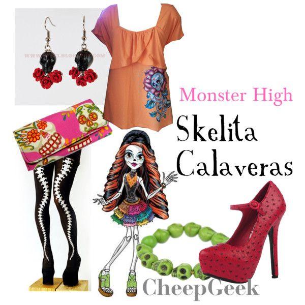 monster high inspired outfits monster high skelita calaveras - Skelita Calaveras Halloween Costume