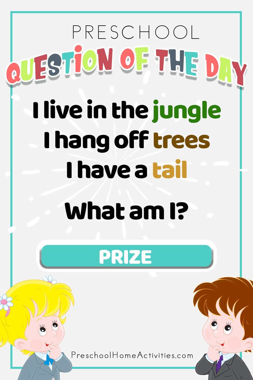 Here's the preschool question of the day. An animal riddle