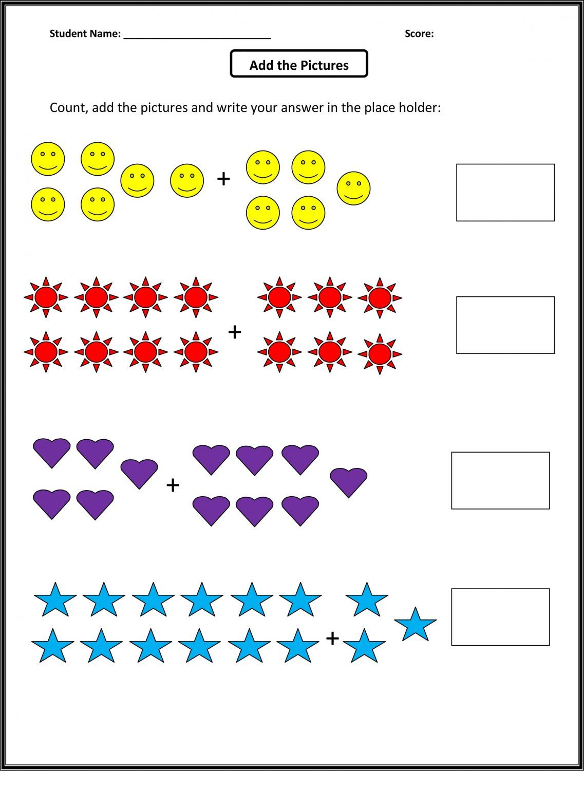 Free Math Worksheets For Grade 1 Review In