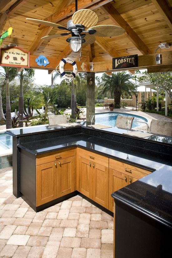 Amazing Decorating Ideas For Outdoor Kitchens Desain Rumah