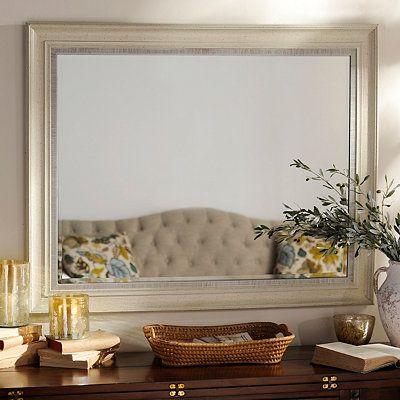 Distressed Cream Framed Mirror, 38x48   Home Sanctuary   Mirror, Living room decor, Wall decor