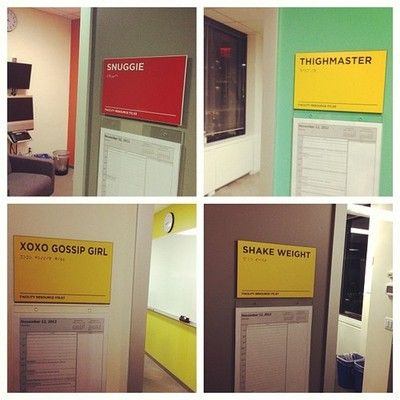 The Conference Room Names At Facebook Are Way Huffpost Tech Room Signage Meeting Room Names Office Branding