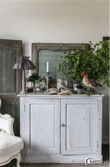 Meuble Peint Patiné - Aged Painted Furniture Salle à Manger