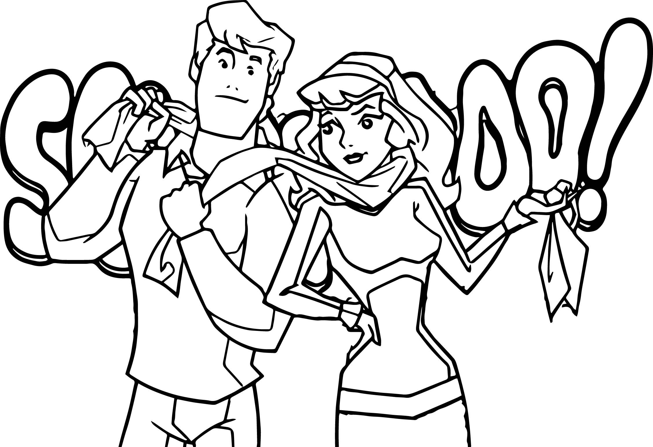 Nice Fred Daphne Scooby Doo Mystery Incorporated Coloring Page