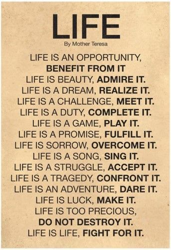 Mother theresa Life quote, wall decor idea #affiliate #home ...