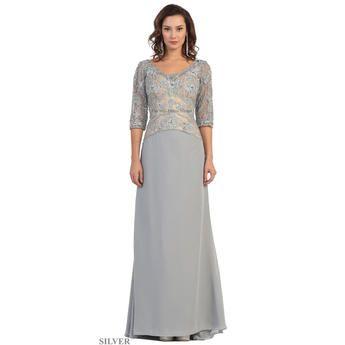 Long Formal Mother Of The Bride Lace Lique Plus Size Evening Dress Outlet 1