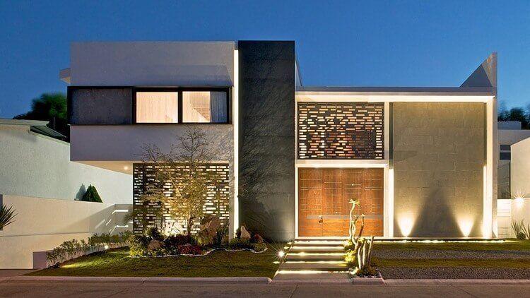 Las Mejores Fotos De Fachadas De Casas Modernas Casas Modernas Minimalistas Casas Modernas Adosadas Casas Modernas Pref Facade House Architecture Arch House