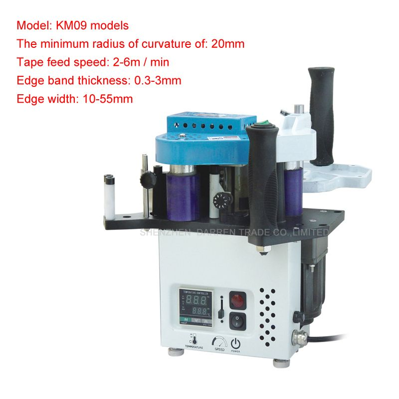 Kd09 Manual Egde Bander Machine With Speed Control Model Signal Unit With Ce English Manual Woodworking Machinery Tools Manual