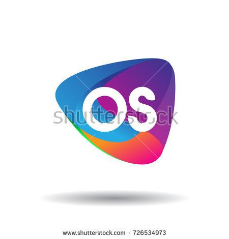 Letter Os Logo With Colorful Splash Background Letter Combination
