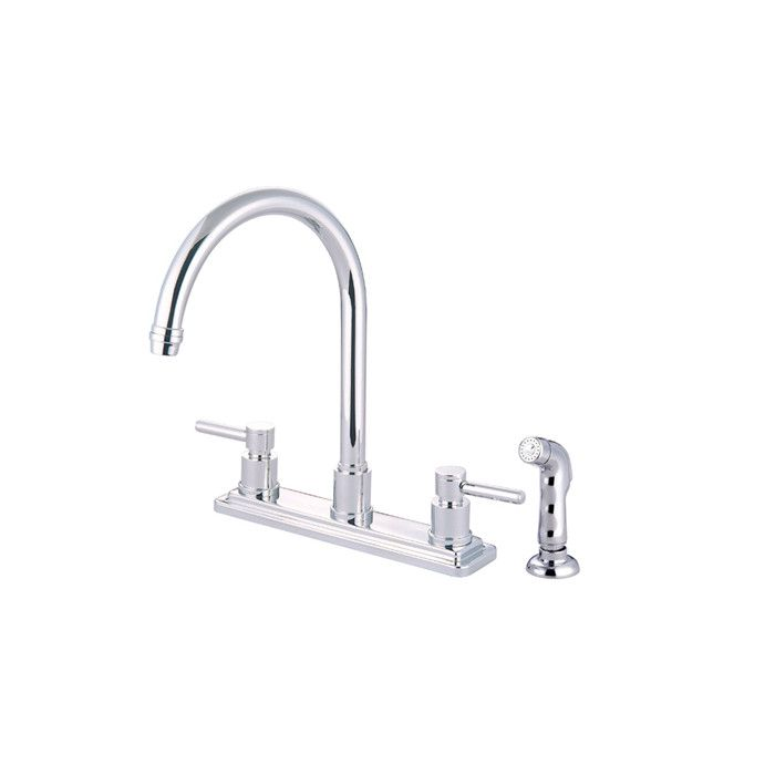 South Beach Double Handle Kitchen Faucet With Side Spray Kitchen Faucet High Arc Kitchen Faucet Kitchen Faucet With Sprayer