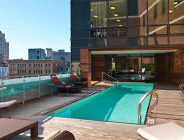 Rooftop Heated Pool Above Province Apartments In The Centre Of Boston Luxury Neighborhoods Luxury Condo Estate Homes