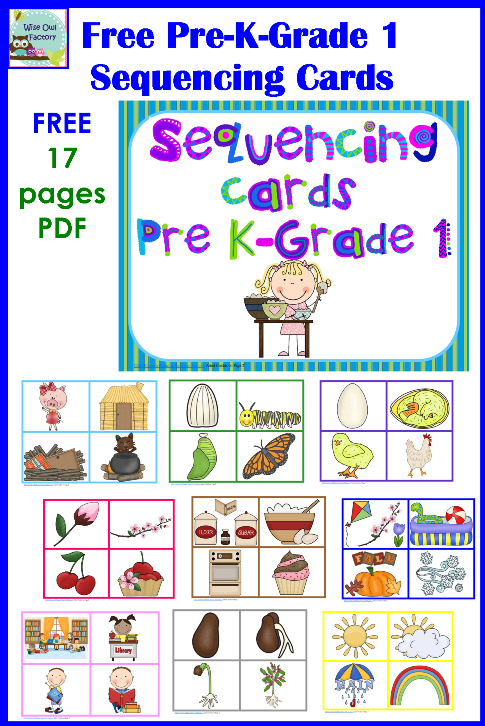 Free Sequencing Cards And Color Matching For Pre K K 1 Preschool