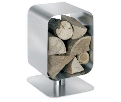 modern firepits Stainless Steel Wood Basket, Bebop
