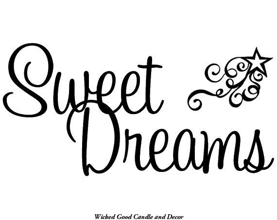 Vinyl Wall Decal Sweet dreams by WickedGoodDecor on Etsy