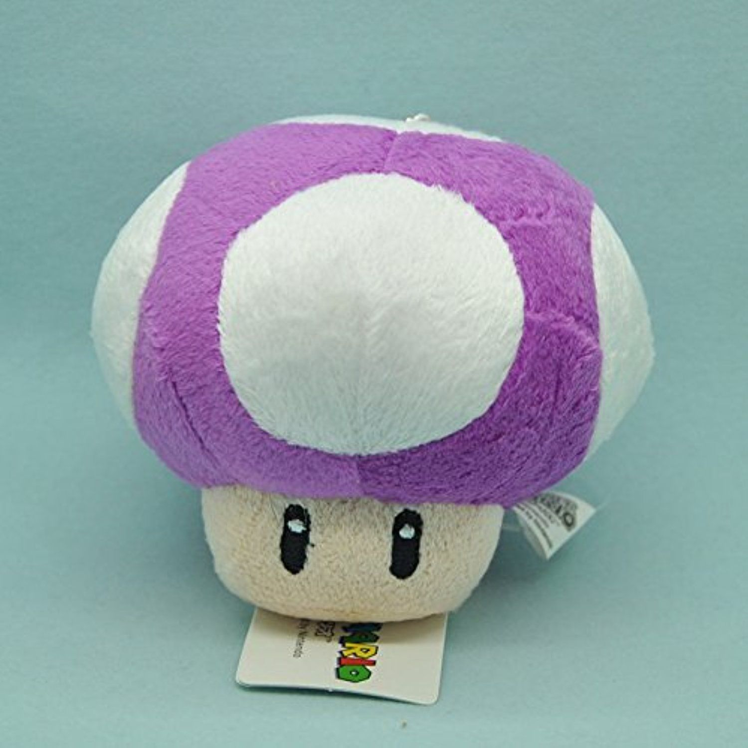 Super Mario Bros Toad Mushroom Purple With Keychain 4 Inch Toddler
