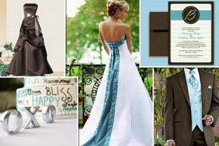 teal brown wedding | There are a few really good songs out there for weddings. Whether it ...