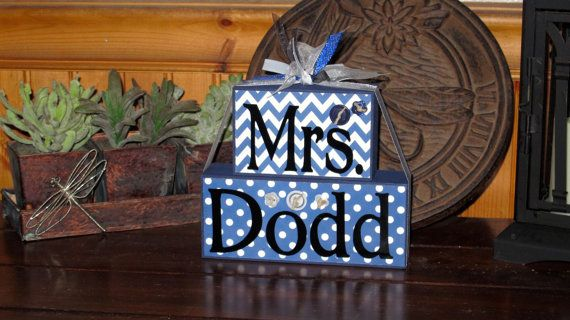 Teacher Name Blocks Teacher Thank You Gift by KDragonflyDesigns,