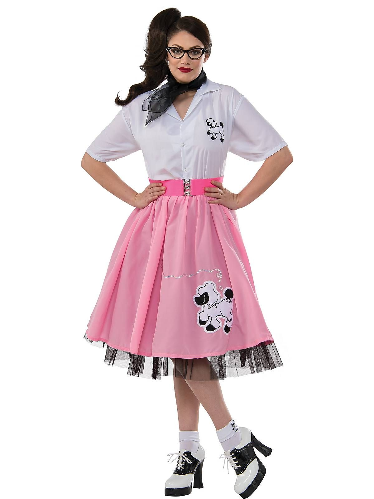 4ac4ddb4139da Black and White 50 s Poodle Outfit - Store-bought Halloween Costumes - Women