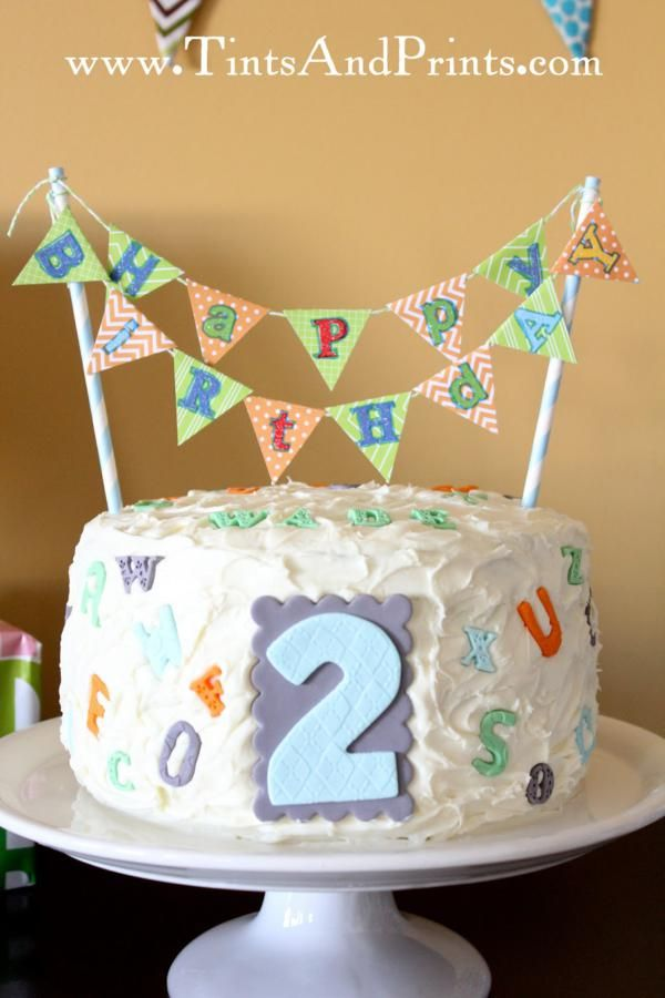 Alphabet Abc Themed 2nd Birthday Party Rileys 3rd Birthday