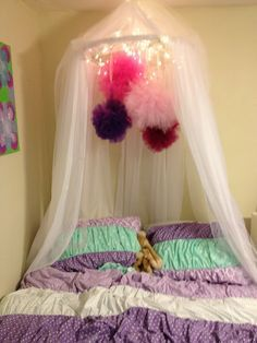 DIY canopy- super easy- hula hoop and cheap curtains with a little tulle! & DIY canopy- super easy- hula hoop and cheap curtains with a little ...