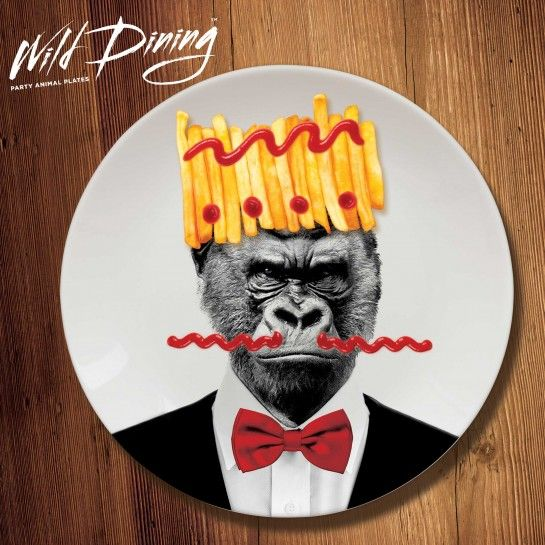 Fancy yourself as a bit of a party animal? So do these guys! Turn dinner time in to a wild occasion with these cool plates. Grab your Gorilla plate here: http://www.justmustard.com/all-products/fun-dining/wild-dining-gorilla.html