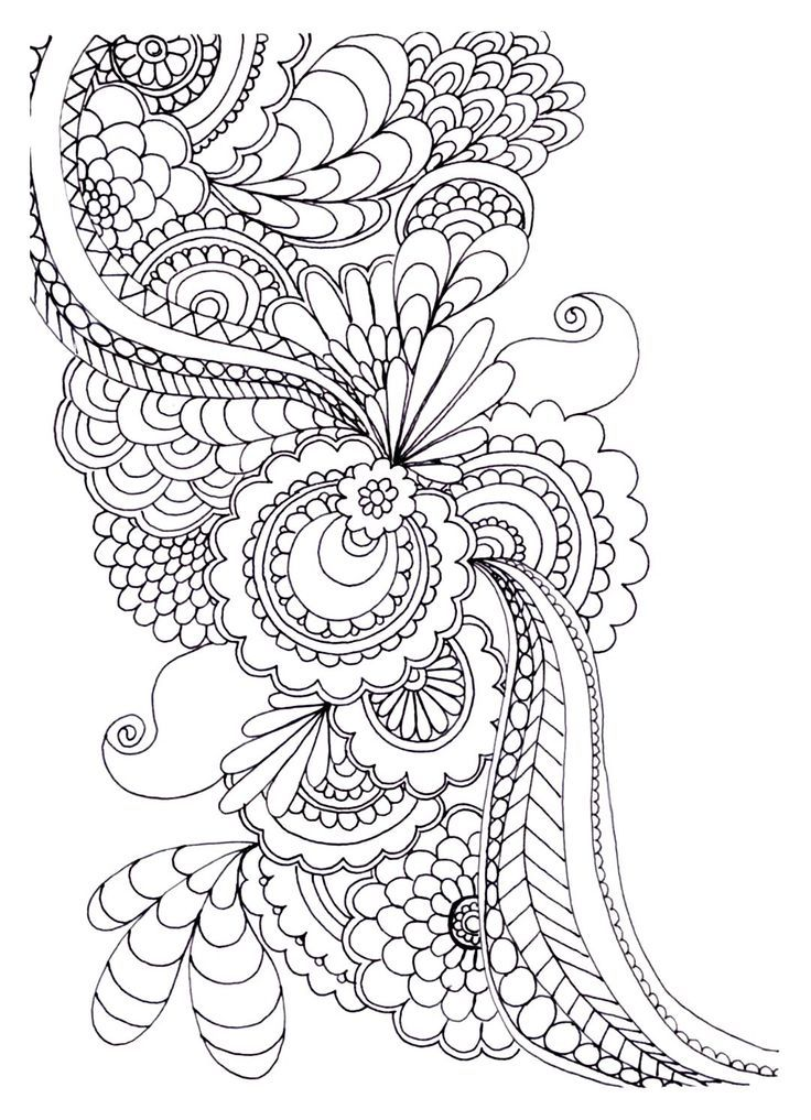 to print this free coloring page coloring adult flower with many petals click on the printer icon at the right intricate coloring pinterest icons