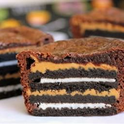 Oreo And Peanut Butter Brownie Cakes Recipe Peanut Butter Brownies Oreo Peanut Butter Brownies Brownie Cake