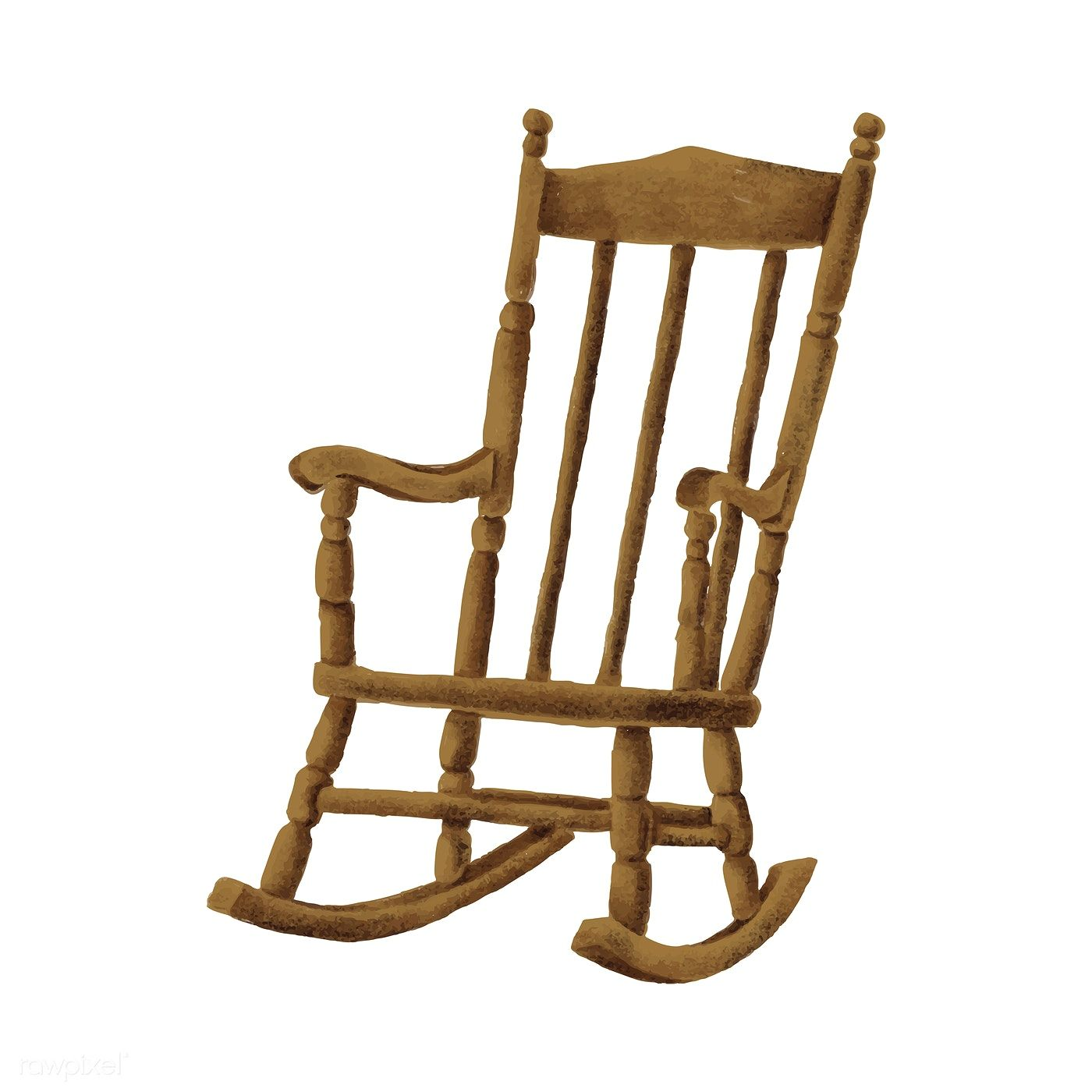 Hand Drawn Wooden Rocking Chair Free Image By Rawpixel Com Wooden Rocking Chairs Rocking Chair Chair