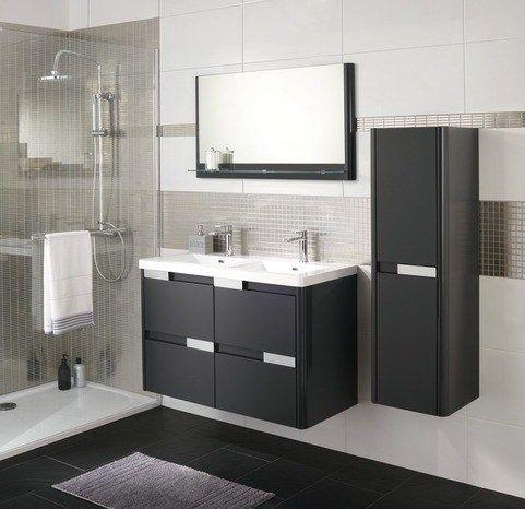 Choisir Le Carrelage De Votre Salle De Bain Printemps Feminin Meuble Double Vasque Double Vasque Salle De Bain Meuble Vasque
