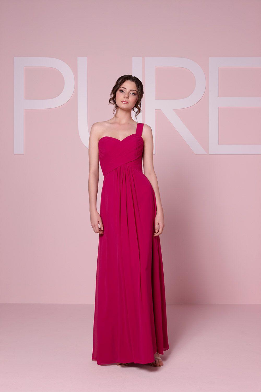 Increíble Frambuesa Vestidos De Dama De Honor De Color Rosa ...
