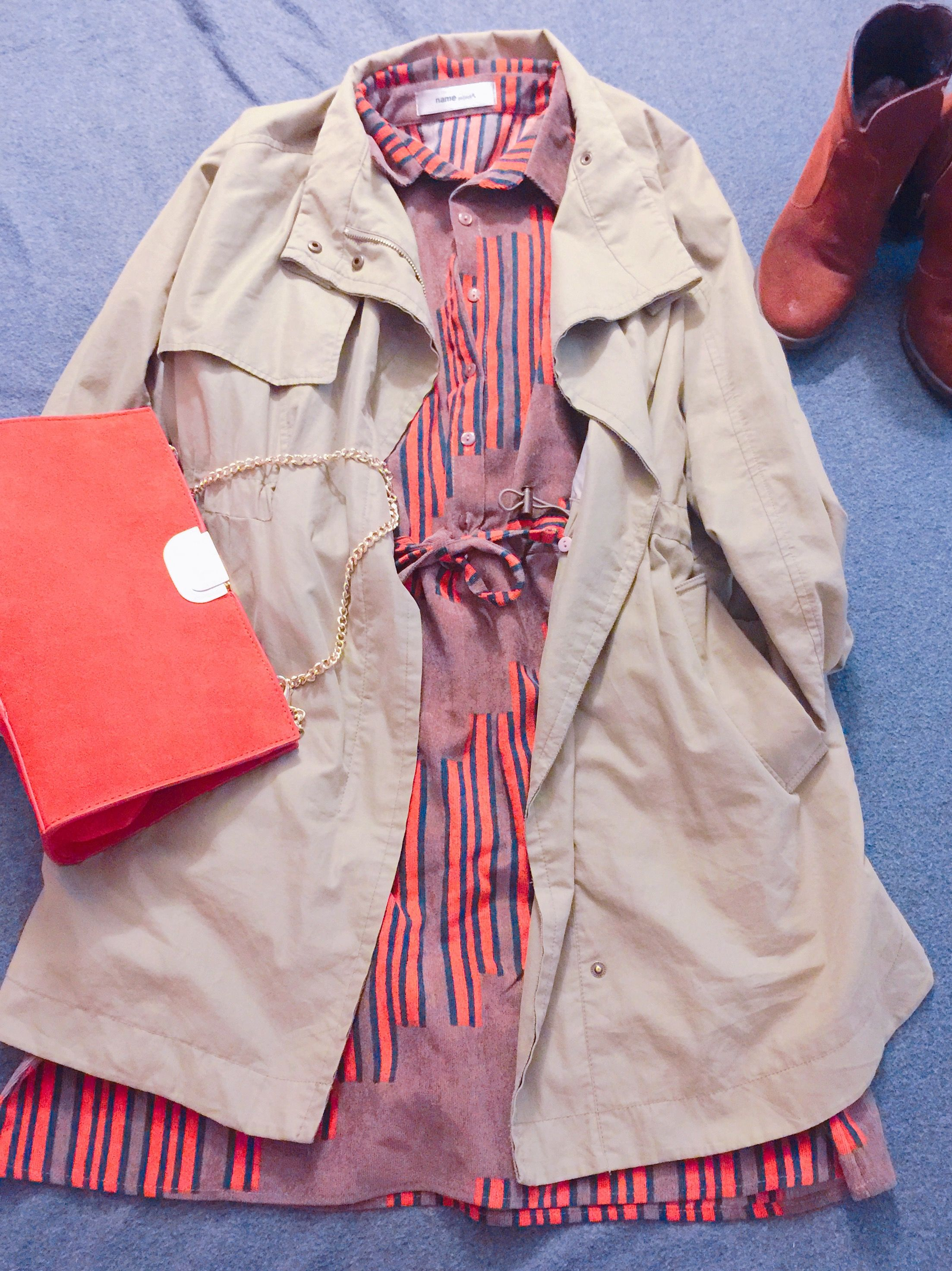 Fall , autumn 🍂 style. One piece. Jacket. Coat. Swede shoes. Girly.