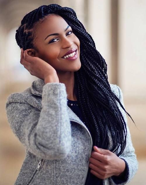 50 Exquisite Box Braids Hairstyles to Do Yourself | Box braids ...