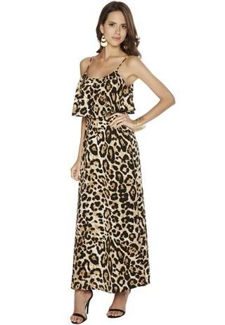 d143b1ca32 LEOPARD PRINT FESTIVAL MAXI DRESS