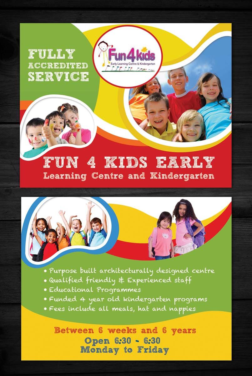 flyer design design 4101048 submitted to child care centre fyler closed