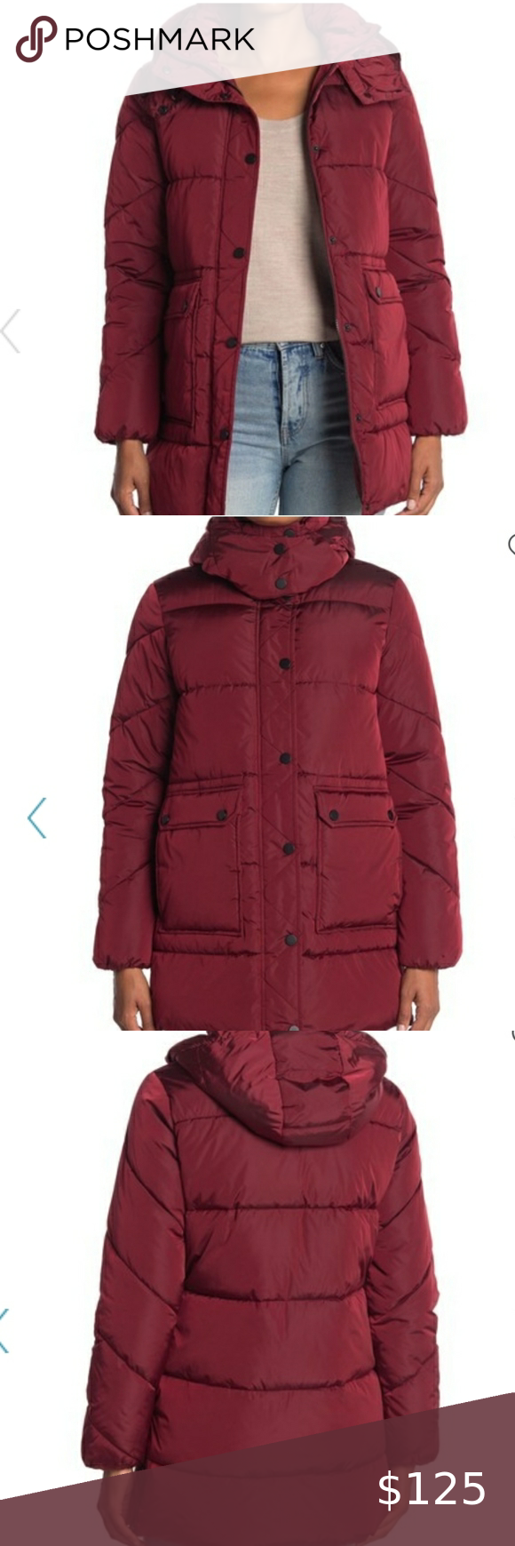 Lucky Brand Missy Hooded Puffer Jacket This Hooded Puffer Jacket Is A Luxe Outerwear Staple That Will Keep Red Puffer Jacket Coats Jackets Women Puffer Jackets [ 1740 x 580 Pixel ]